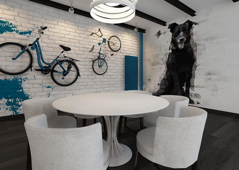 Domek jednorodzinny - salon z kuchnią