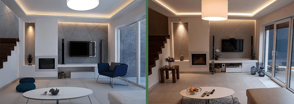 Wizualizacja pomieszczenia w 3D